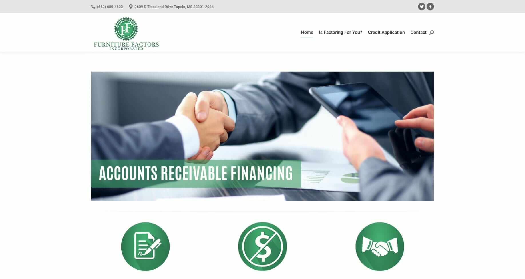 Website and Marketing for Financial Institutions - Furniture Factors