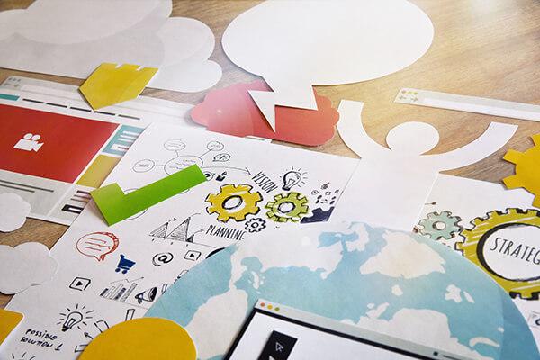Design concept. Concept for creative process, graphic and web de