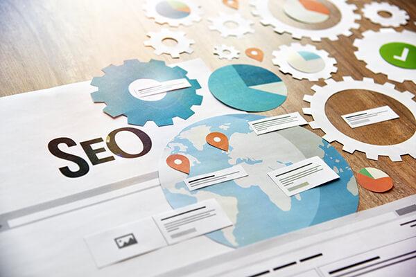 SEO banner concept design. Concept for website and mobile websit