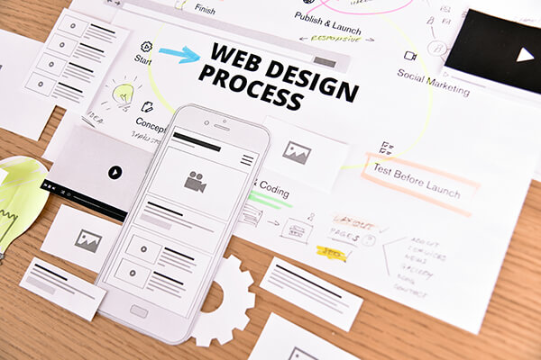 Website and mobile website design and development. Creative conc