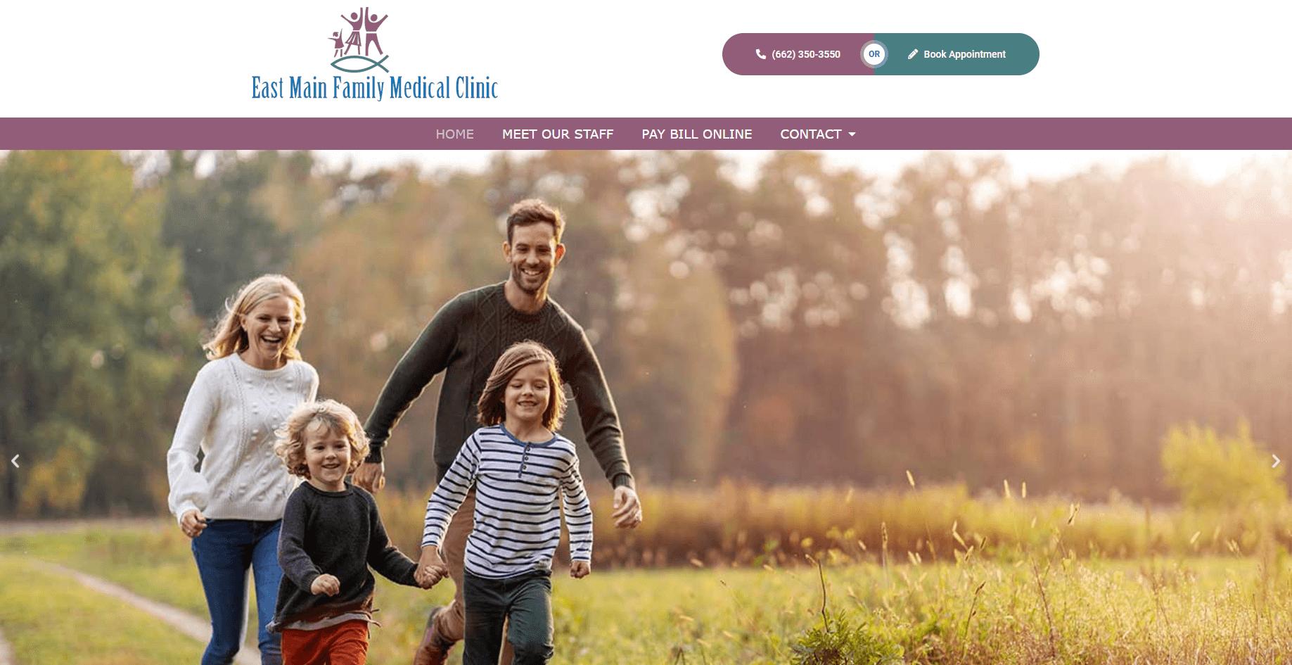 medical website design - east main family medical