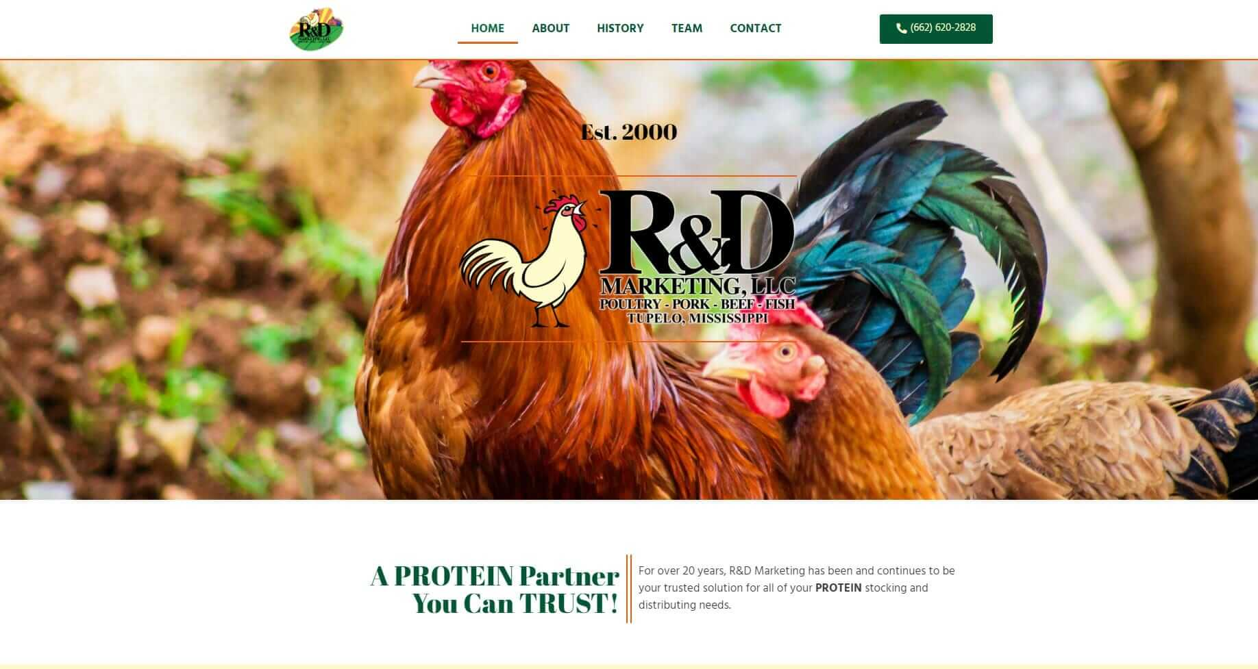 website design and marketing for food service business - R&D Marketing