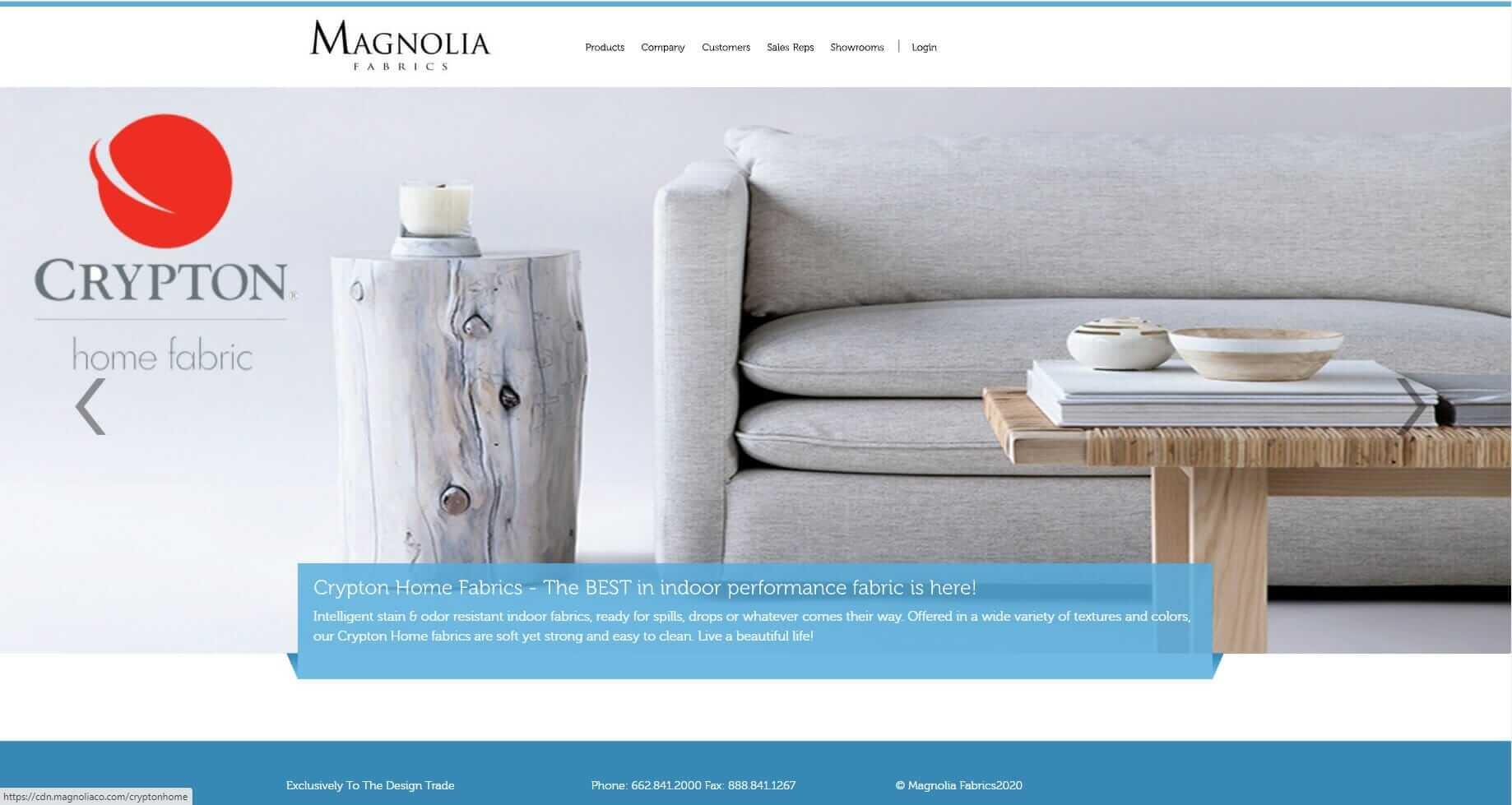 ecommerce Website design for wholesale business - Magnolia Fabrics