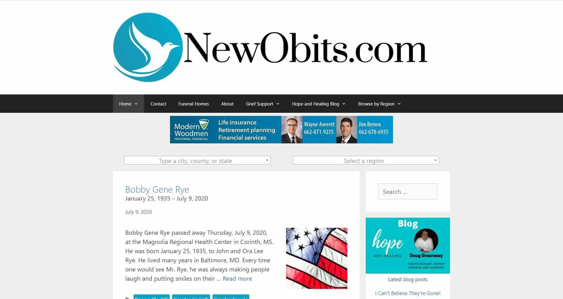 Obituary Website for Funeral Homes - NewObits.com